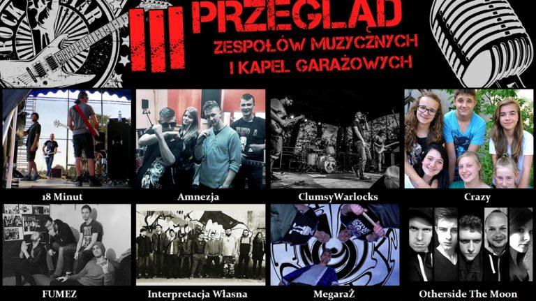 Znamy uczestników III Przeglądu Zespołów Muzycznych i Kapel Garażowych w Cewicach