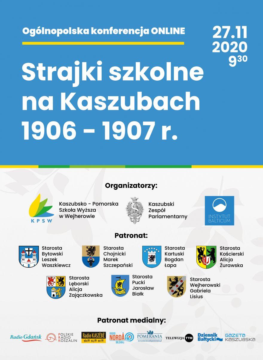 plakat Strajki szkolne na Kaszubach 1906-1907